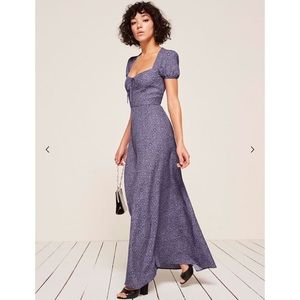 NWT Reformation Rossetti Dress in Violet, sz 6